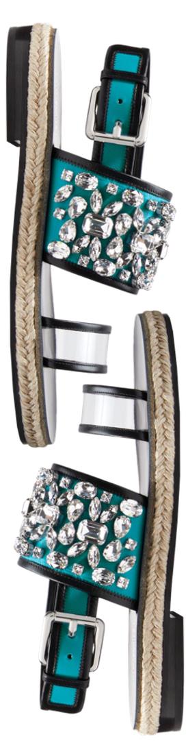 Michael Kors Collection Lafayette Embellished Calf Leather Sandal