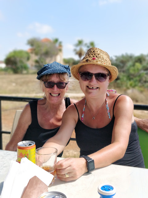 madmumof7 and her mum in Cyprus Agios Georgios