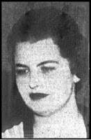 A newspaper photo of a young, plump-faced white woman with late 1930s style makeup and hair