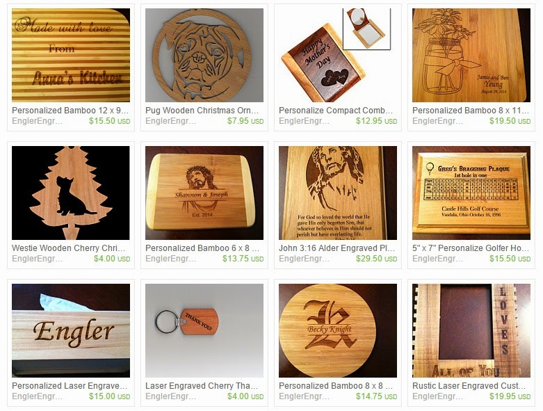 A sample of Engler Engraving's products