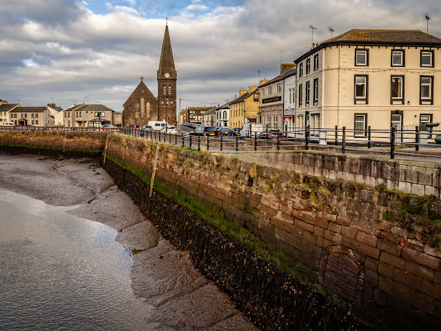 Photo looking down the River Ellen to Christ Church, Maryport