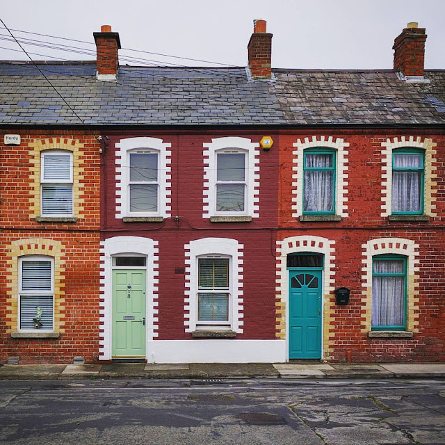 One day in Dublin City Itinerary: Home with ornate brickwork behind Barrow St. in the Dublin Docklands
