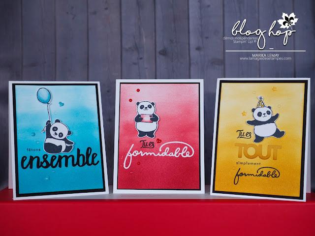 blog hop des démonstratrices Stampin' Up! francophones du Québec