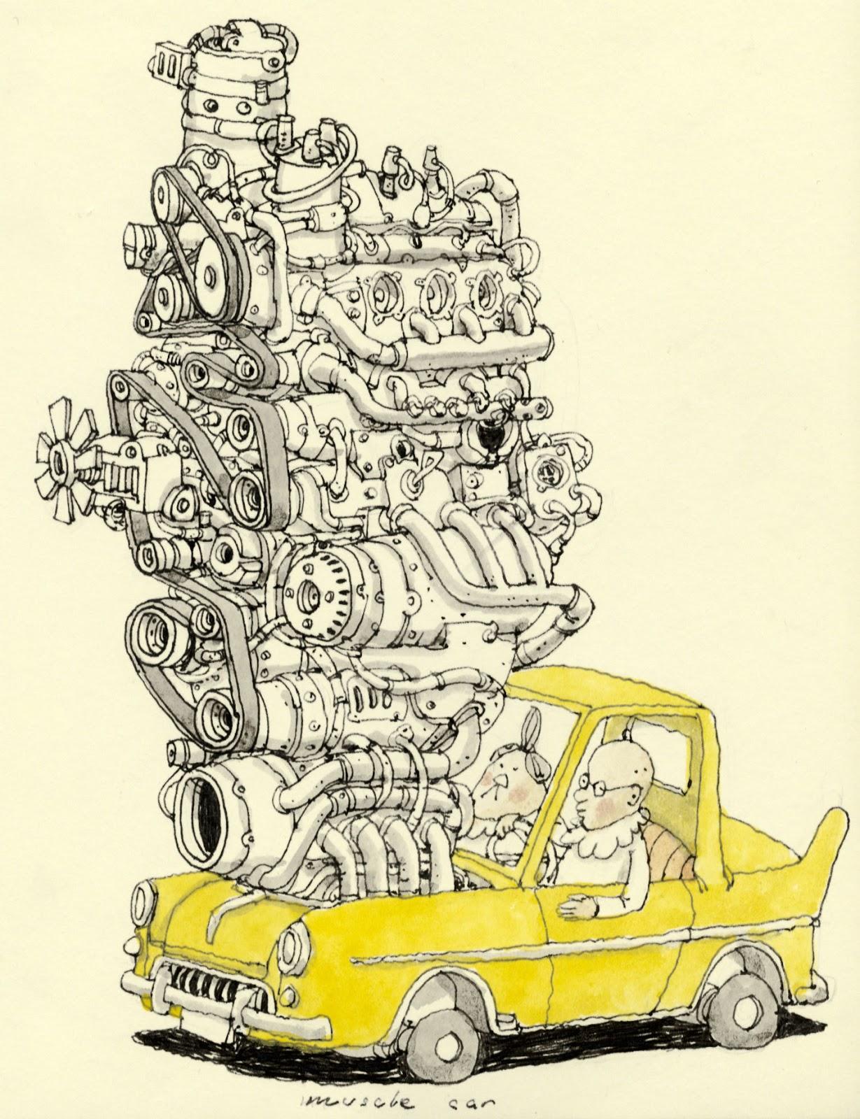 Mattias Inks Muscle Car