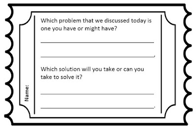 Problem solving lesson plan exit ticket students complete to process and reflect upon lesson completion.