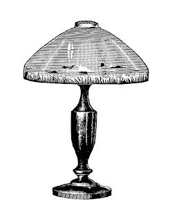 Digital Stamp Design Vintage Table Lamp Image 1919