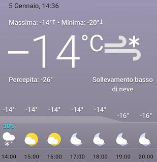 Vilnius temperatura -14 gradi
