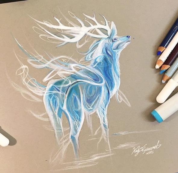 gambar keren kreatif dan menarik dengan menggunakan pensil warna-31