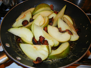 Add in the pears and figs