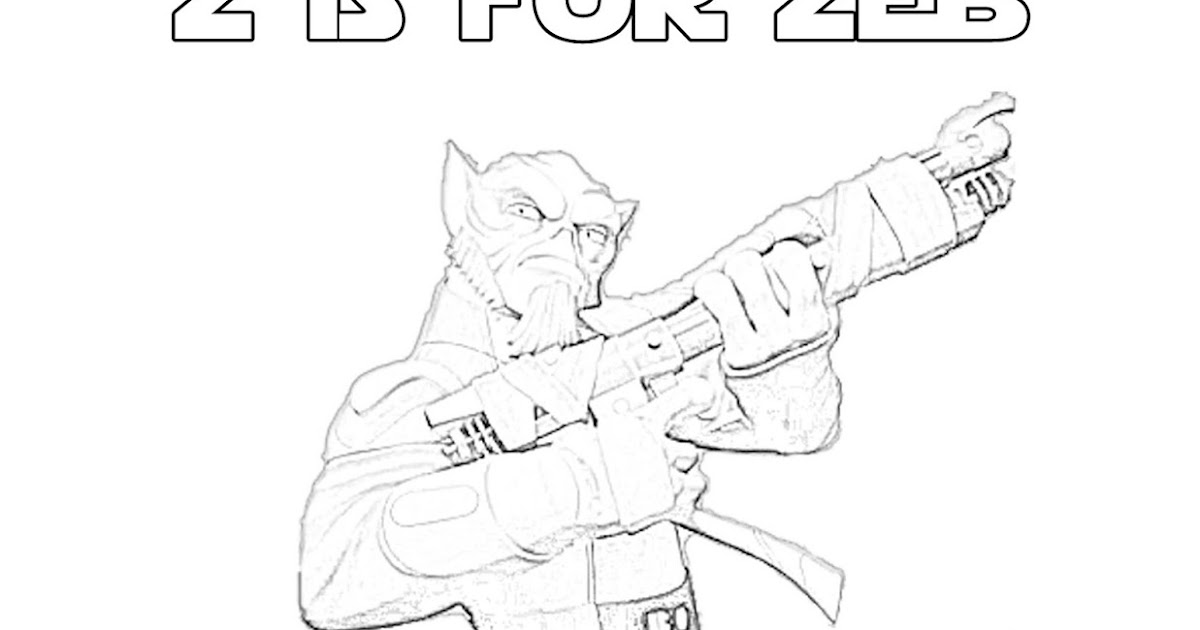 Z Is For Zeb Orrelios Star Wars Rebels Alphabet Coloring Page The Star Wars Mom Parties Recipes Crafts And Printables