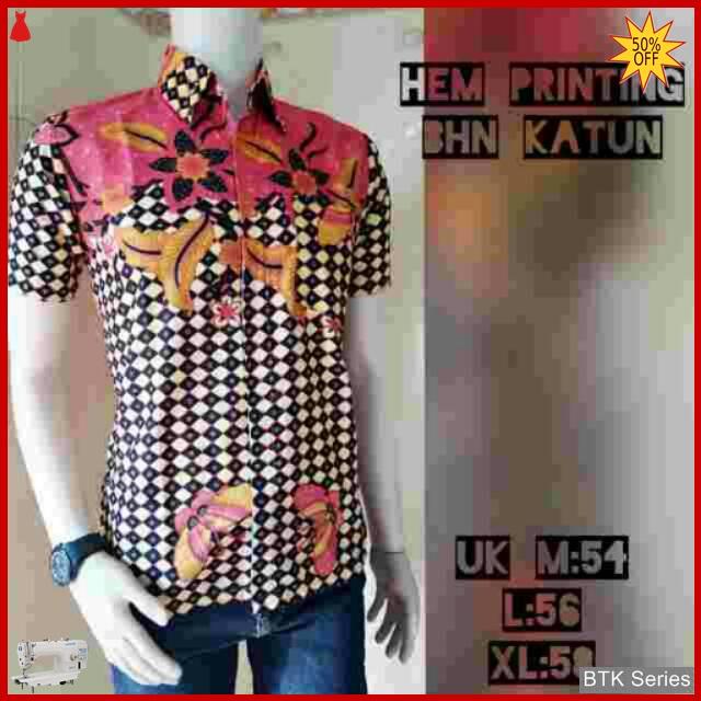 Grosir Hem Batik Murah: BTK151 Baju Hem Batik Caturwulan Modis Murah BMGShop