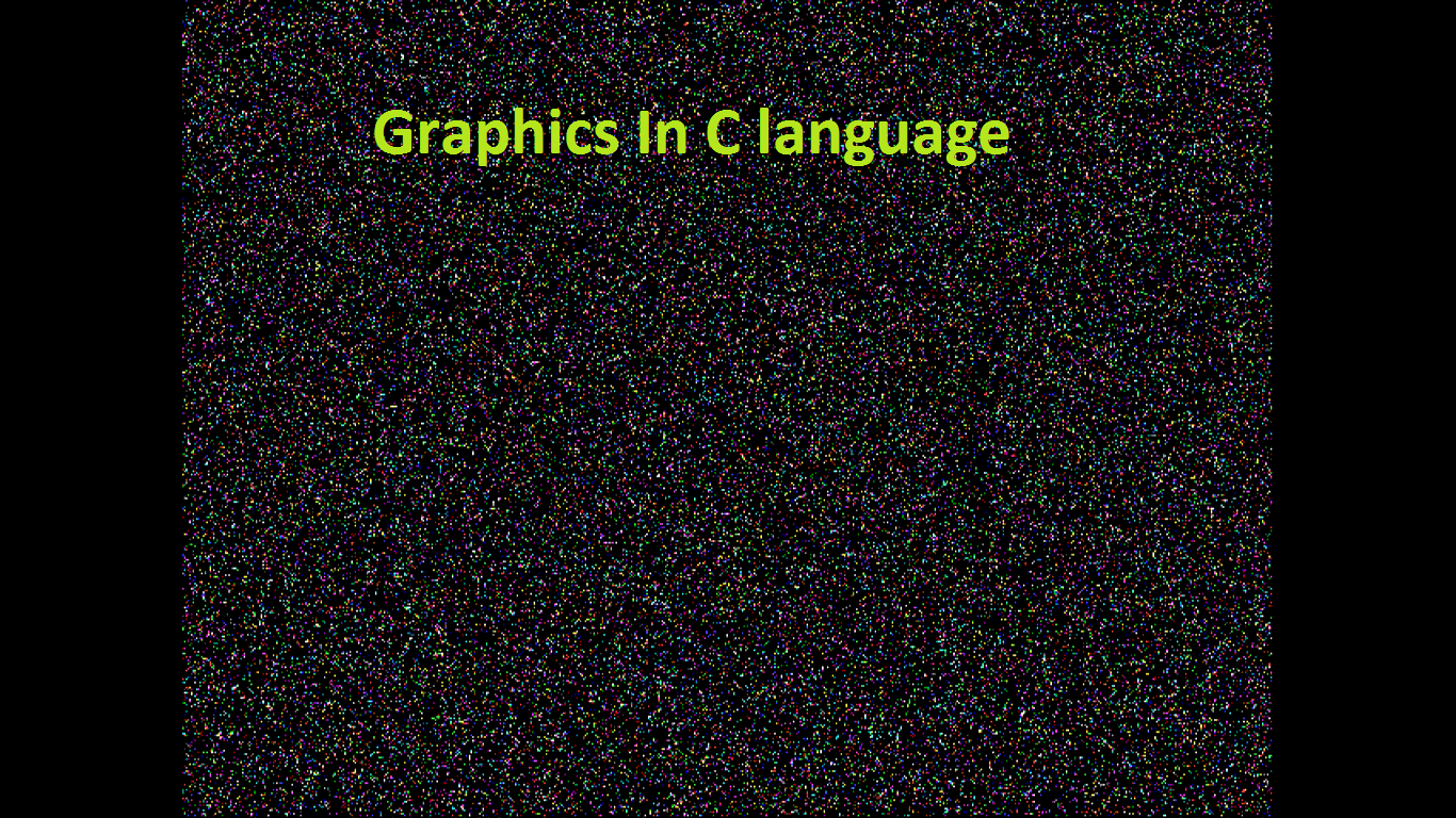 Graphics Programming In C Shoutarticle