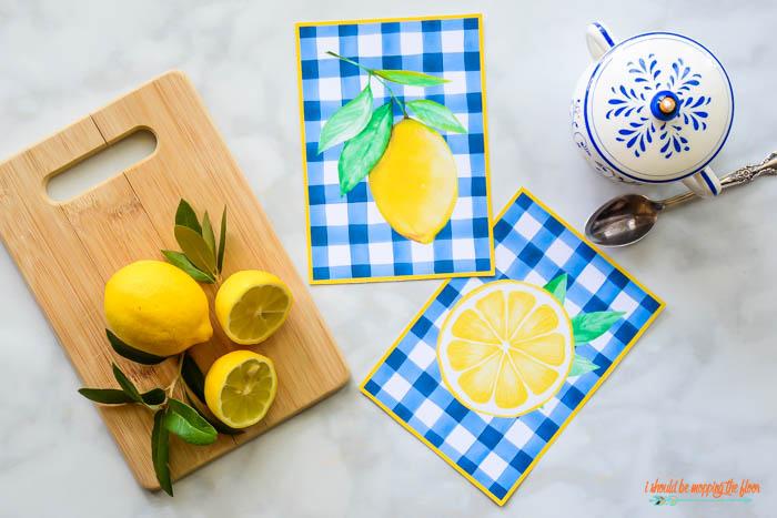 Free Printable Lemon Art