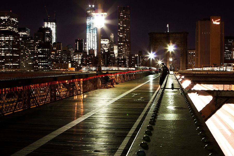 31. One night at the Brooklyn Bridge by Alexander Friedrich