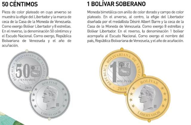 Los nuevos billetes y monedas que circularán #20Ago con la reconversión (Fotos)