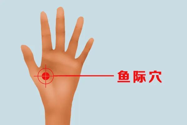 手上有個清肺按鈕,每天按一按,有助排出肺部濁氣(清肺火,調肺氣)