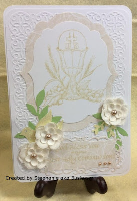 ODBD First Holy Communion, Card Created by Stephanie aka Buslersm