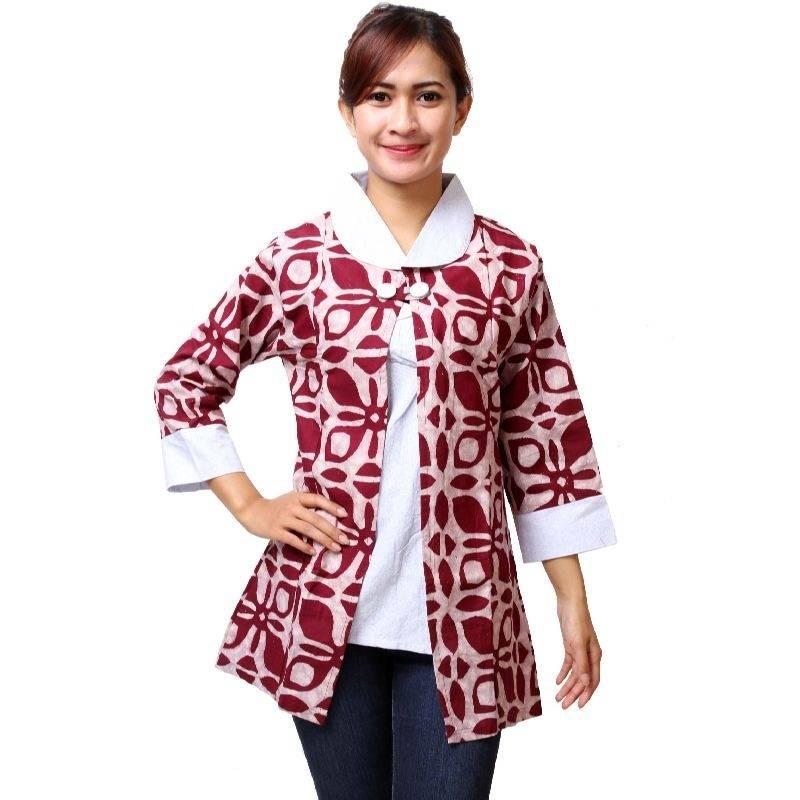 25 Model Baju Batik Kantor Terbaru Bulan Ini