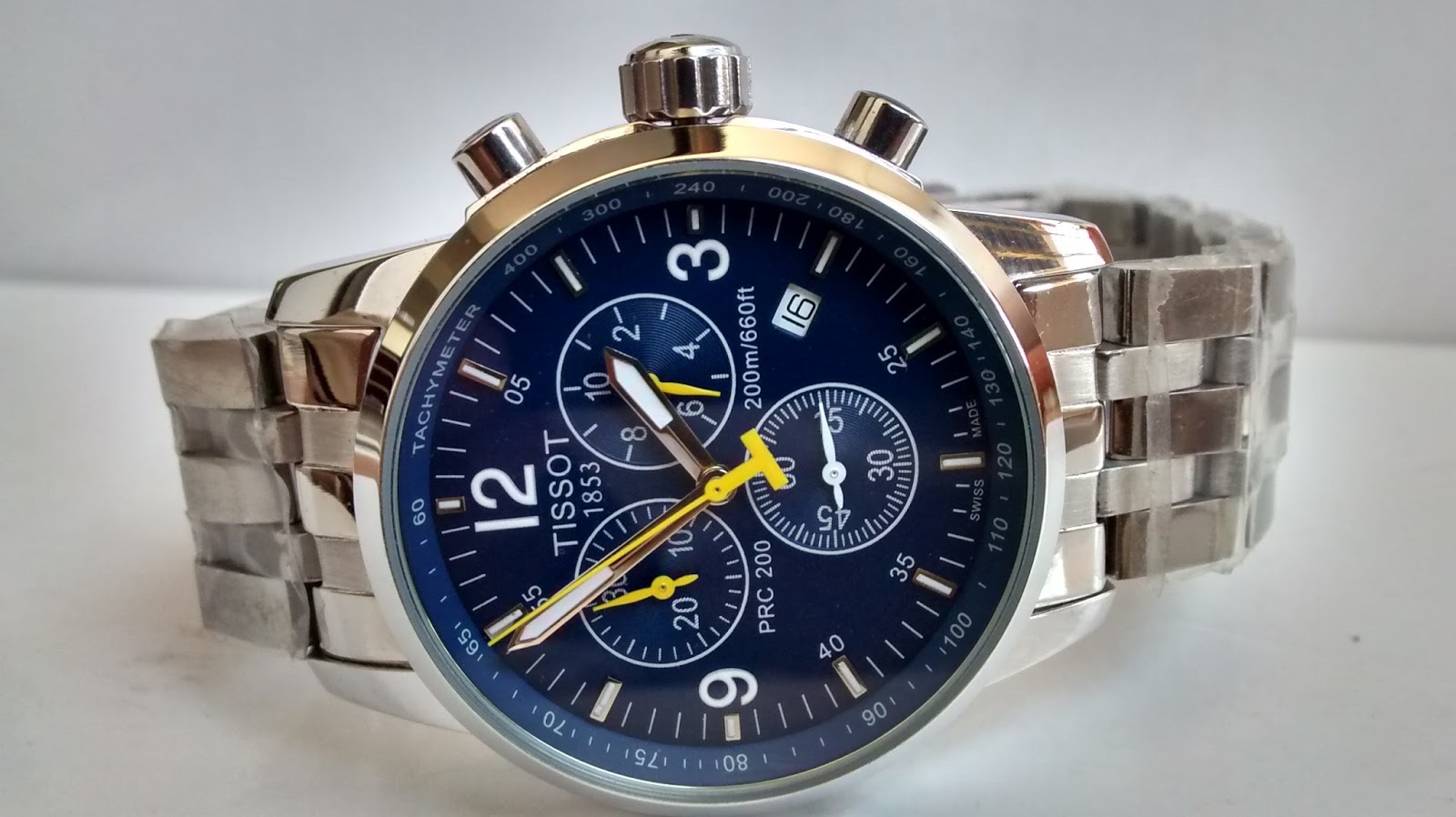 4a8a4af84ac SOLD OUT TISSOT PRC 200 Chrono Blue Dial Watch Small Dial Rs3999 1 Year  Warranty. SOLD OUT. Please Don t book this watch