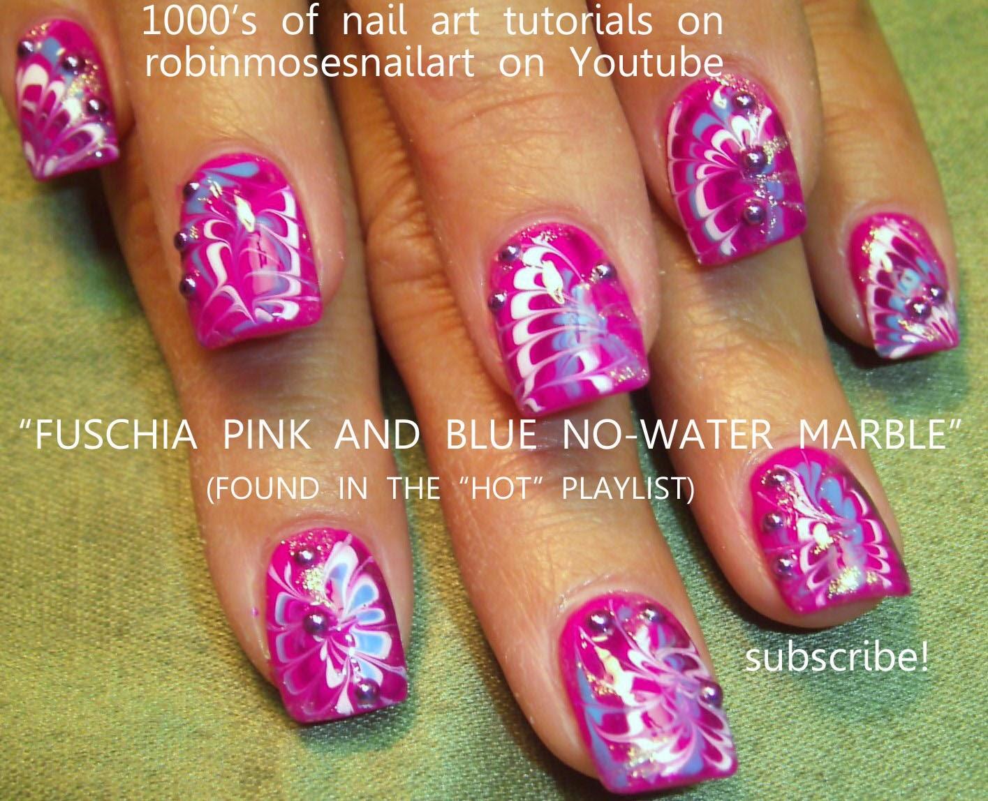 """Water Nail Art: Robin Moses Nail Art: """"no Water Marble"""" """"nail Art"""" """"no"""