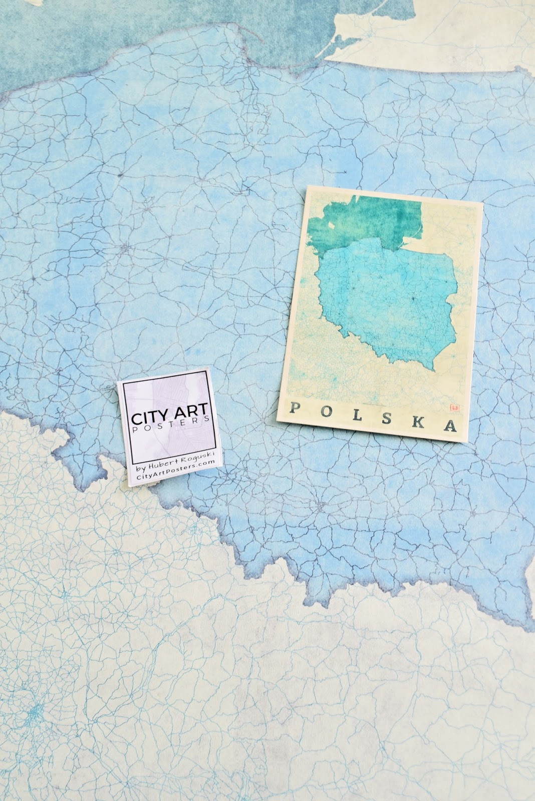 Pocztówka z Mapą Polski - City Art Posters | Memories That Remain