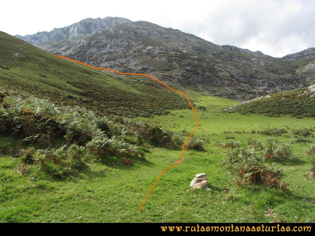 Ruta al Cabezo Llerosos desde La Molina: Camino a la majada Ceribios