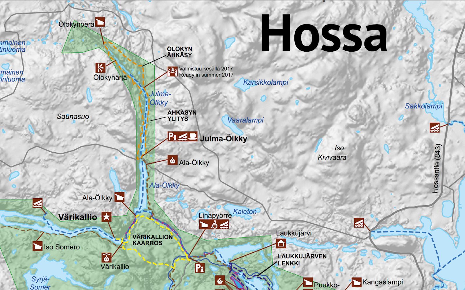 Hossan Kansallispuisto Kartta