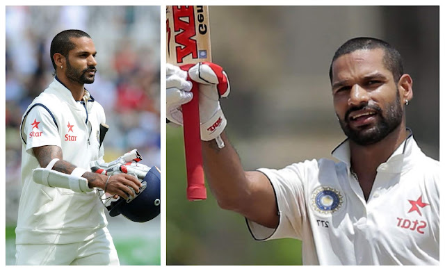 Shikhar Dhavan Test Cricket Pics