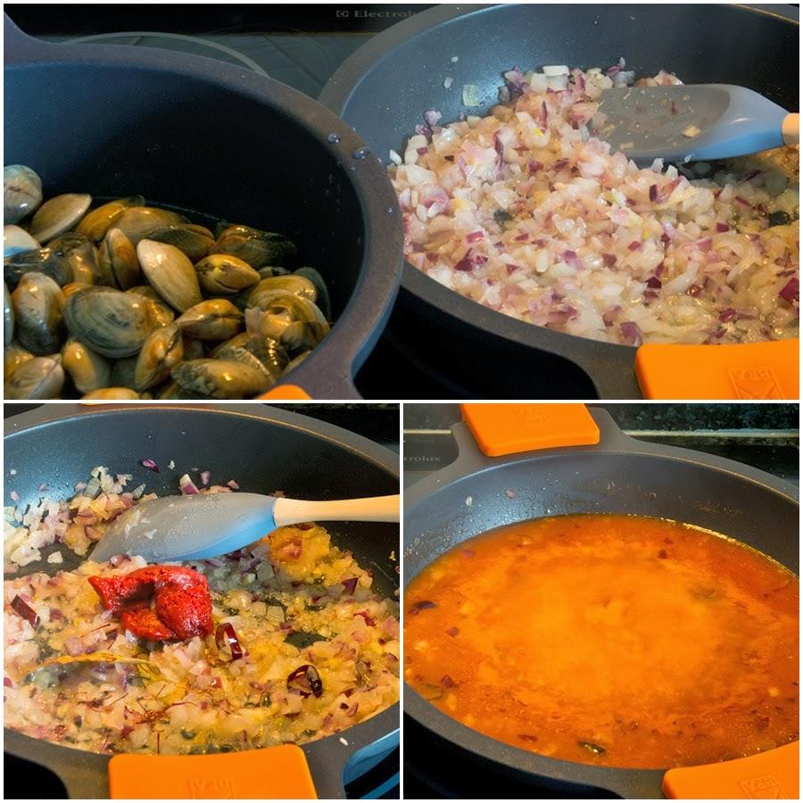 Receta de Almejas a la Marinera. Cocina Gallega.