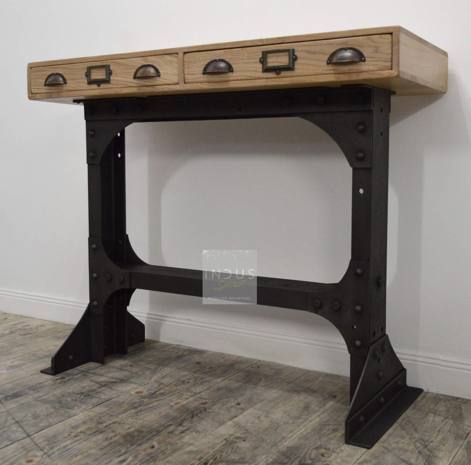 console design industriel. Black Bedroom Furniture Sets. Home Design Ideas