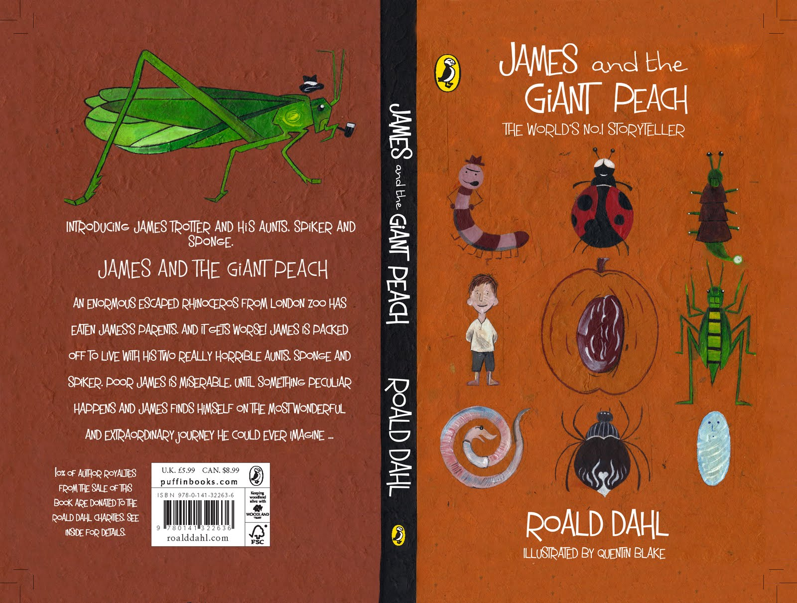 Scott Crook Illustration James Amp The Giant Peach Book Cover Design