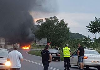 M. Γέφυρα Πιερίας: Ανάφλεξη και έκρηξη σε υγραεριοκινούμενο ΙΧ – (ΒΙΝΤΕΟ-ΦΩΤΟ)