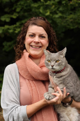 Dr Sarah Ellis with her cat Cosmos