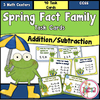 Spring Fact Families Task Card Pack