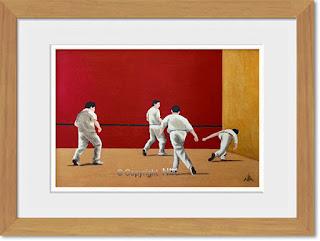 reproduction sur papier aquarelle 200 Grammes d'une peinture de Nik