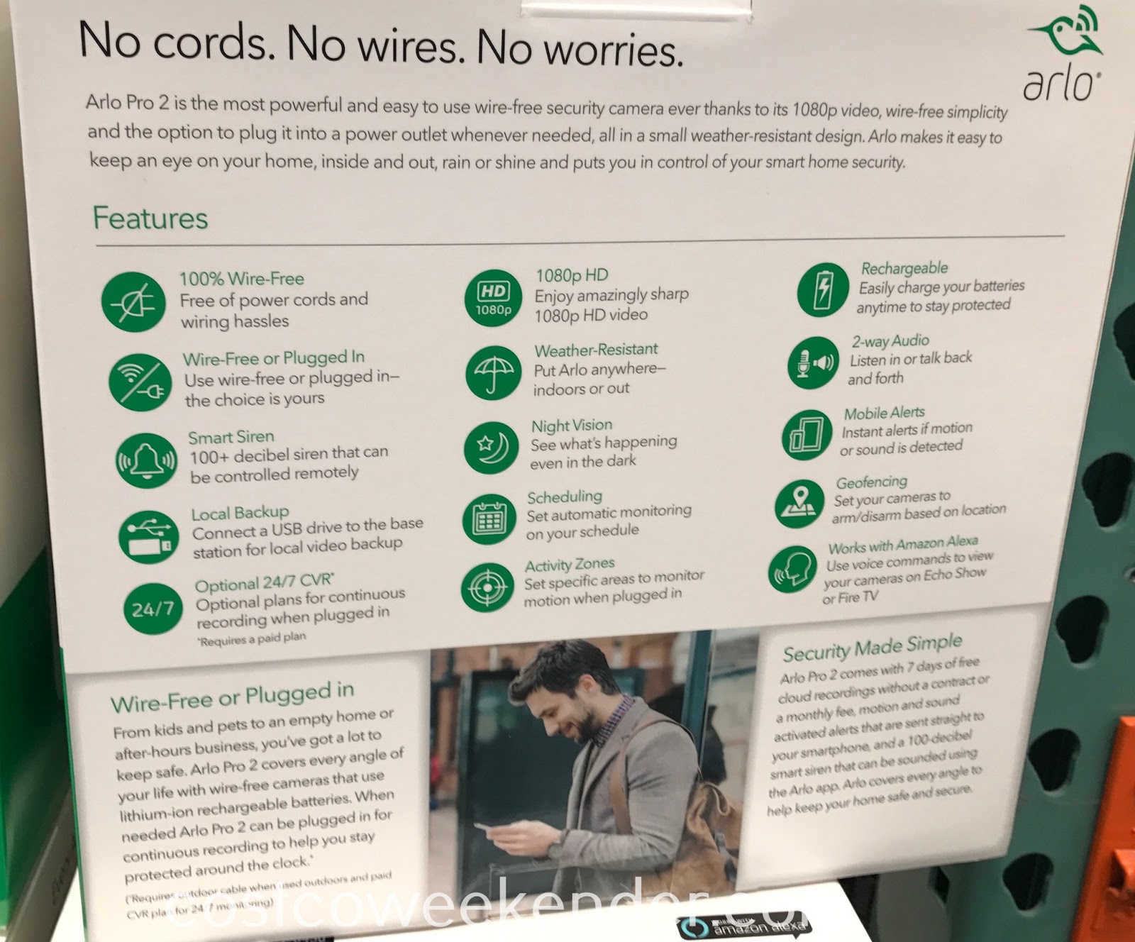 Arlo Pro 2 Wire-Free Security Cameras (model no  VCS4500C) | Costco