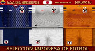 PES 6 Kits Japan National Team World Cup 2018 by FacaA/Ngel