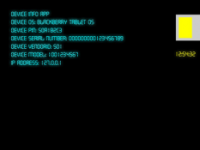 Device Info es una aplicación práctica que muestra información importante sobre su BlackBerry ® PlayBook ™. Si nunca has querido encontrar detalles como la versión del sistema operativo, PIN, número de serie, ID de proveedor, modelo de dispositivo y dirección IP. También encontrará información incluyendo: pantalla PPP, versión de tiempo de ejecución AIR, ubicación de Geo (longitud y latitud) y número de modelo. Esta aplicación también mostrará su actual nivel de batería en formato gráfico y textual, así como la fecha y hora. También puede cambiar el texto y el color del área de visualización en el menú de la