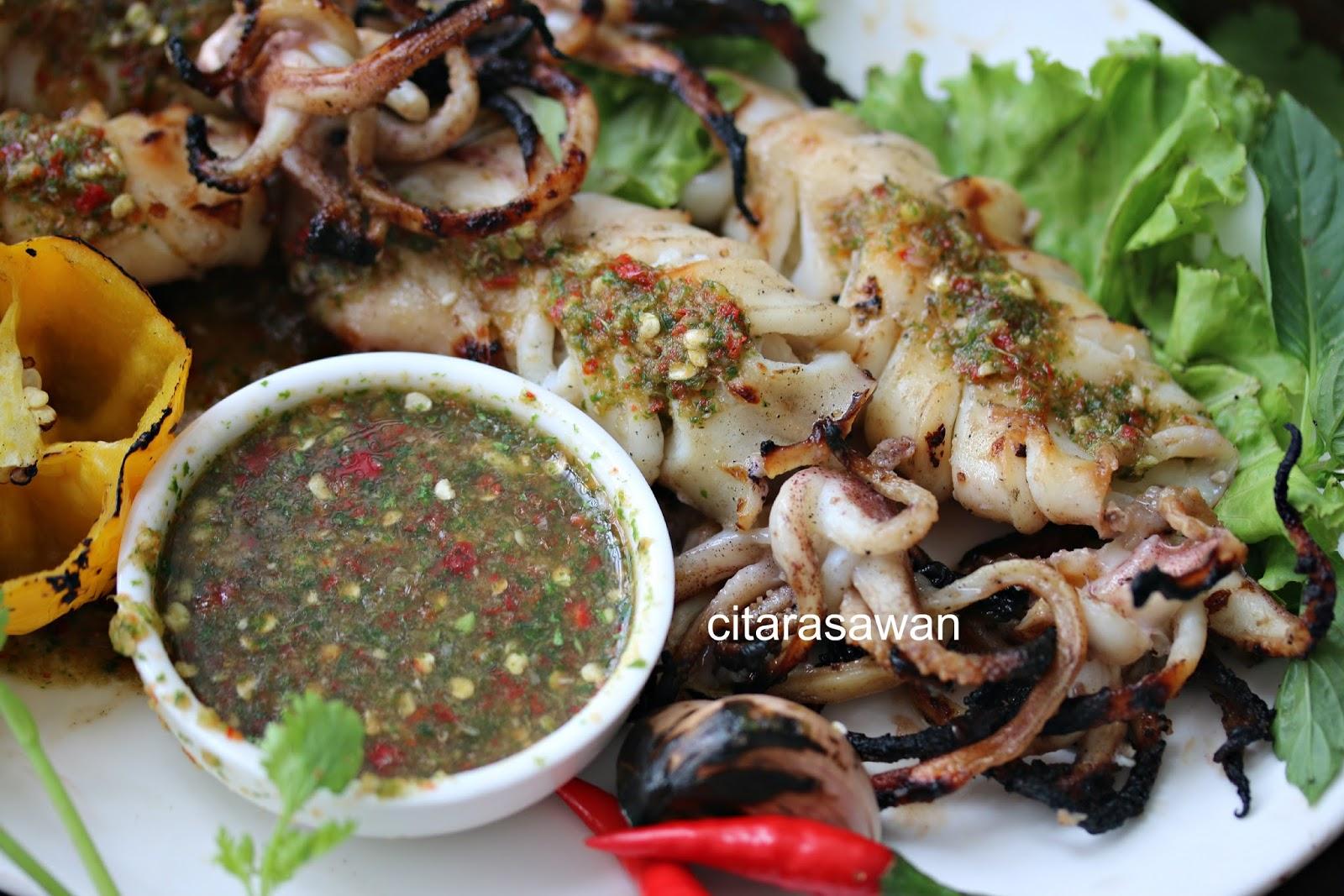 Sotong Bakar Madu Sos Seafood Thai Resepi Terbaik