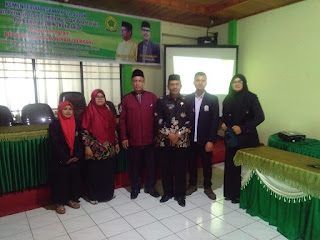 Serah terima Mahasiswa PKLM II Ketua Jurusan MPI dengan KEMENAG Kota Solok