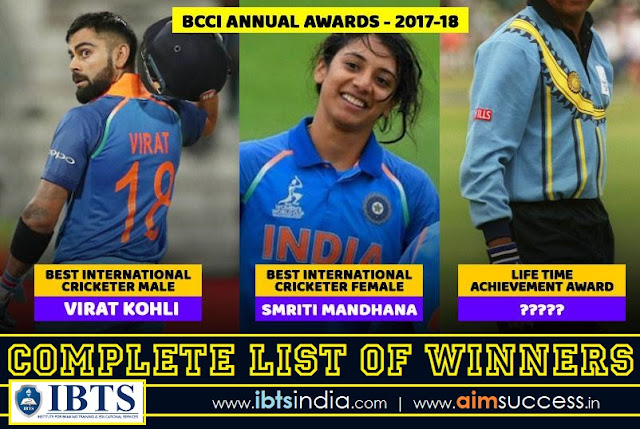 BCCI Awards 2018: Complete List of Winners