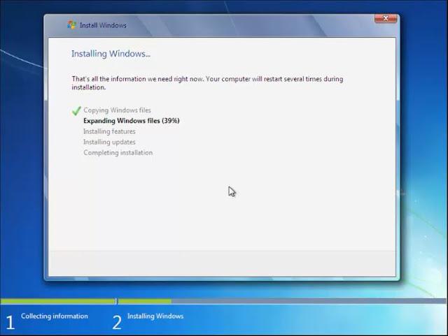 Cara install Windows 7 dengan Flashdisk tanpa kehilangan data 8