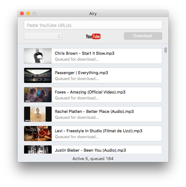 AIry as an efficient solution to download videos from YouTube