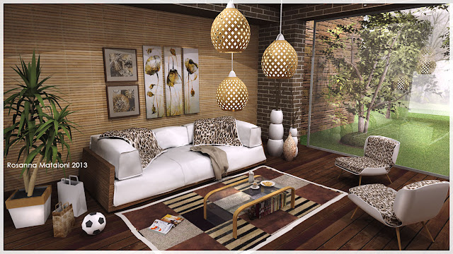 sketchup model sofa design #7 interior scene by _Rosanna_Mataloni