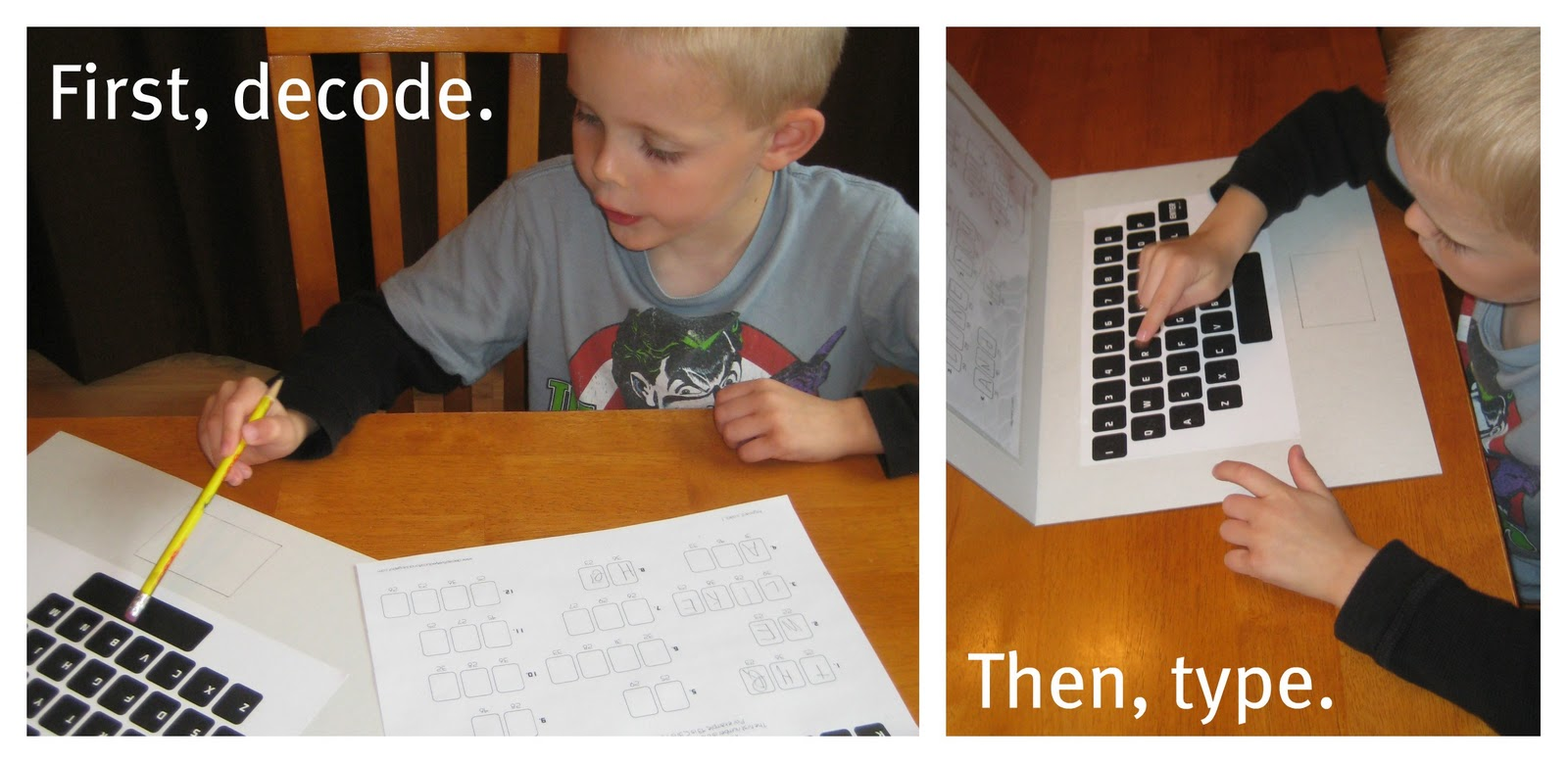Relentlessly Fun Deceptively Educational Keyboard Codes Spelling Practice With A Homemade Laptop