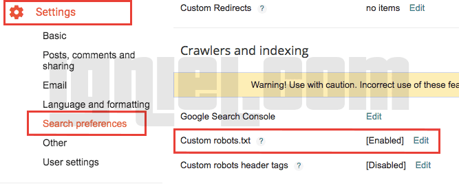 Cara Setting file robots.txt di Blogger Agar SEO Friendly