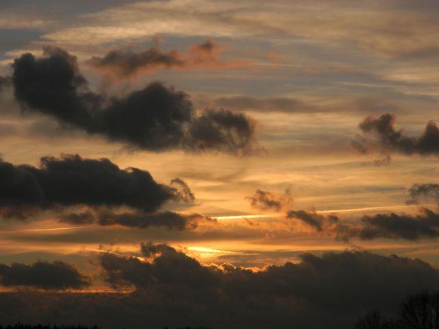 za horyzontem, chmury, ciemne, noc