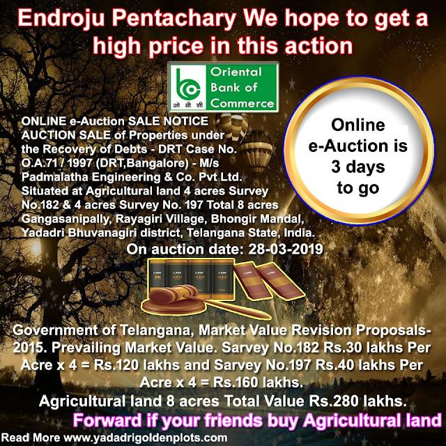 DRT-1 Hyderabad Online e-Auction Sale 3 days to go