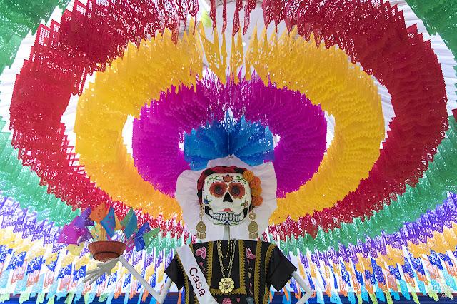Decoración de día de Muertos en Oaxaca