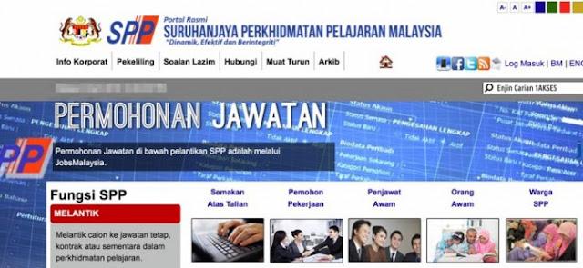 Semakan Keputusan Temuduga SPP Online